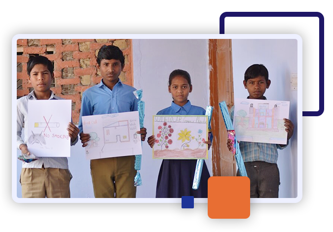 A3logics conducted a drawing competition for school children of different age groups