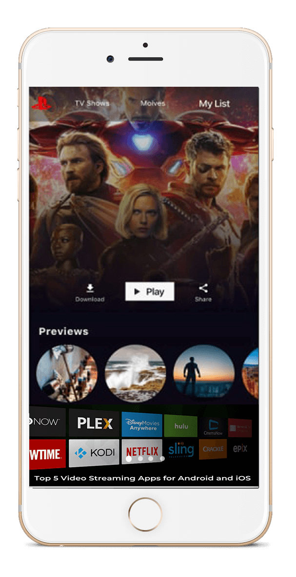 Motion Picture Streaming Platform with Ground-Breaking Features